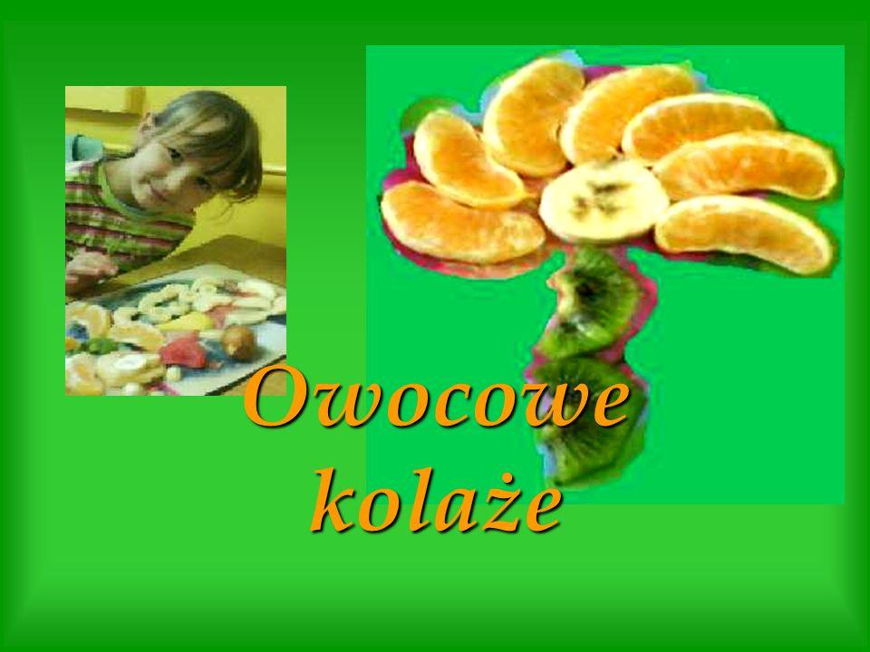 Prace powstały w wyniku formowania kawałków owoców oraz komponowania z nich przyjętego kształtu np.: smoka, sera itp.