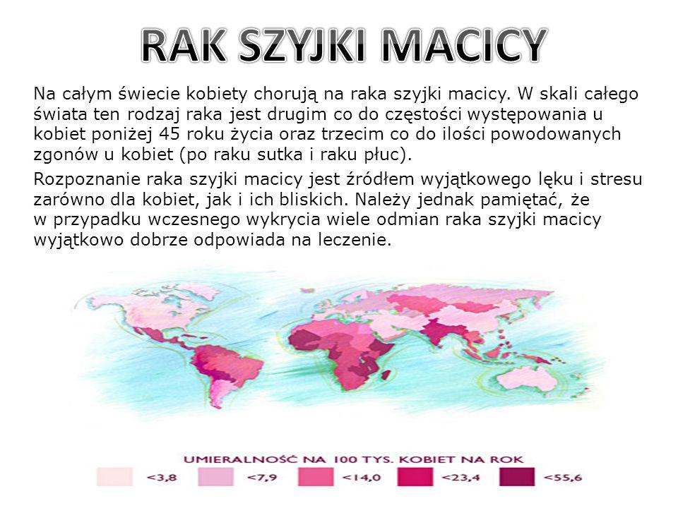 Na całym świecie kobiety chorują na raka szyjki macicy. W skali całego świata ten rodzaj raka jest drugim co do częstości występowania u kobiet poniże
