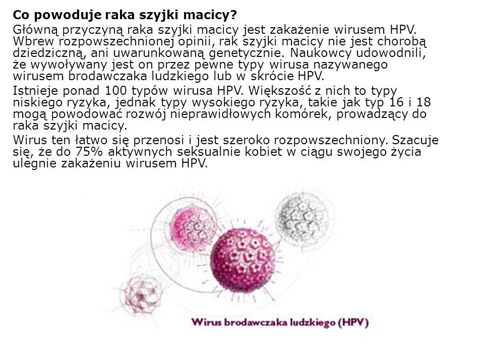 Co powoduje raka szyjki macicy? Główną przyczyną raka szyjki macicy jest zakażenie wirusem HPV. Wbrew rozpowszechnionej opinii, rak szyjki macicy nie