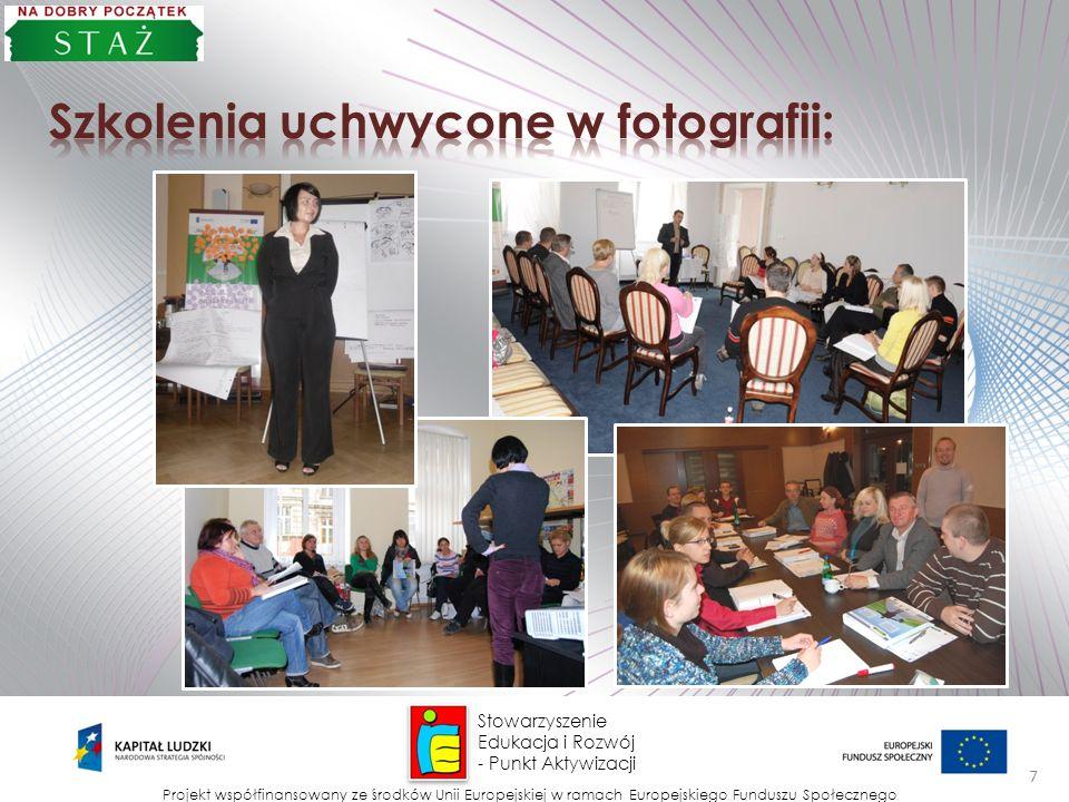 Stowarzyszenie Edukacja i Rozwój - Punkt Aktywizacji Projekt współfinansowany ze środków Unii Europejskiej w ramach Europejskiego Funduszu Społecznego 8 CENZURA