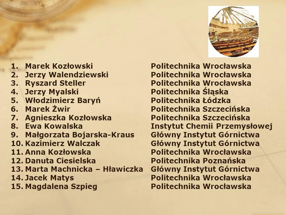 1.Marek Kozłowski 2.Jerzy Walendziewski 3.Ryszard Steller 4.Jerzy Myalski 5.Włodzimierz Baryń 6.Marek Żwir 7.Agnieszka Kozłowska 8.Ewa Kowalska 9.Małg