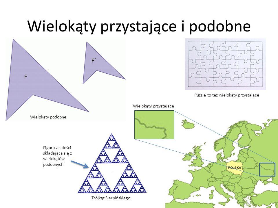 Wielokąty przystające i podobne Wielokąty przystające Wielokąty podobne Figura z całości składająca się z wielokątów podobnych Trójkąt Sierpińskiego P