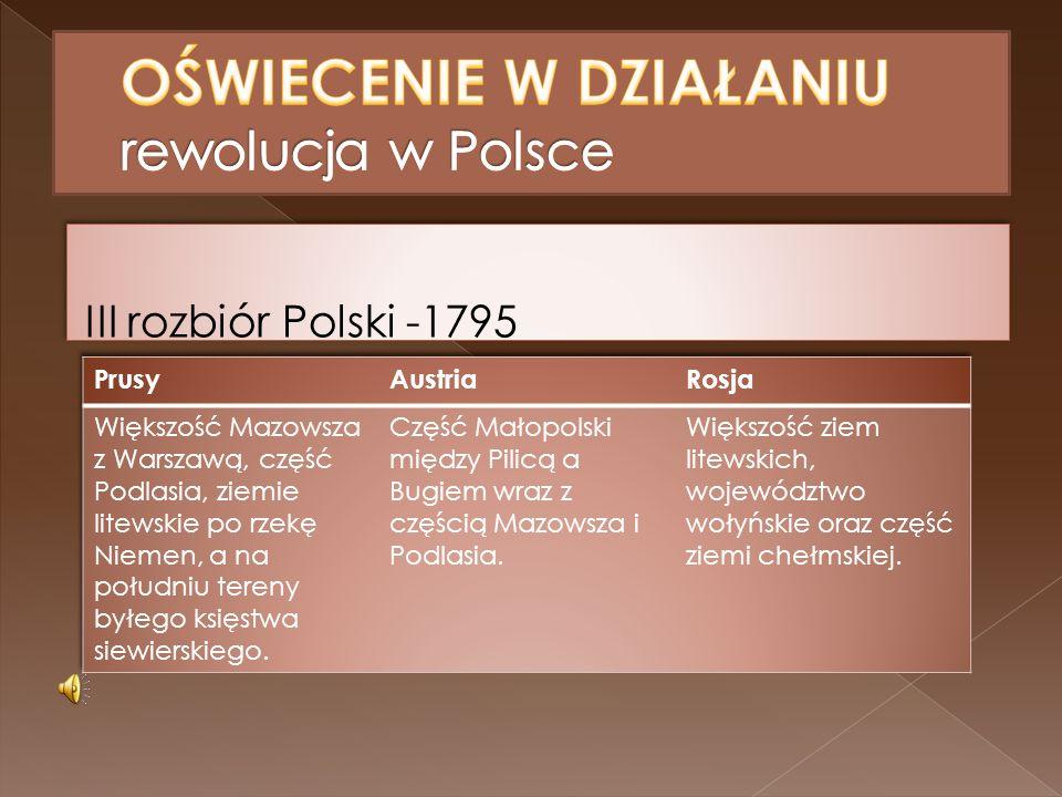 III rozbiór Polski -1795