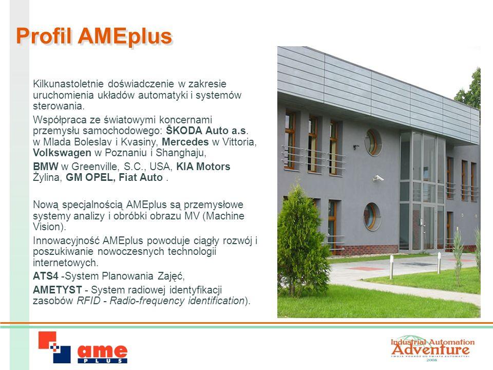 Profil AMEplus Kilkunastoletnie doświadczenie w zakresie uruchomienia układów automatyki i systemów sterowania.