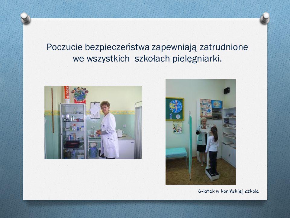 Poczucie bezpieczeństwa zapewniają zatrudnione we wszystkich szkołach pielęgniarki. 6-latek w konińskiej szkole