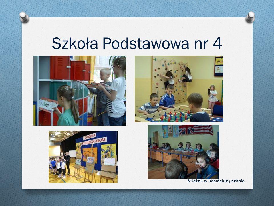 Szkoła Podstawowa nr 4 6-latek w konińskiej szkole