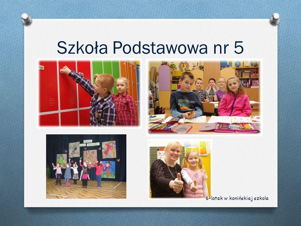 Szkoła Podstawowa nr 5 6-latek w konińskiej szkole