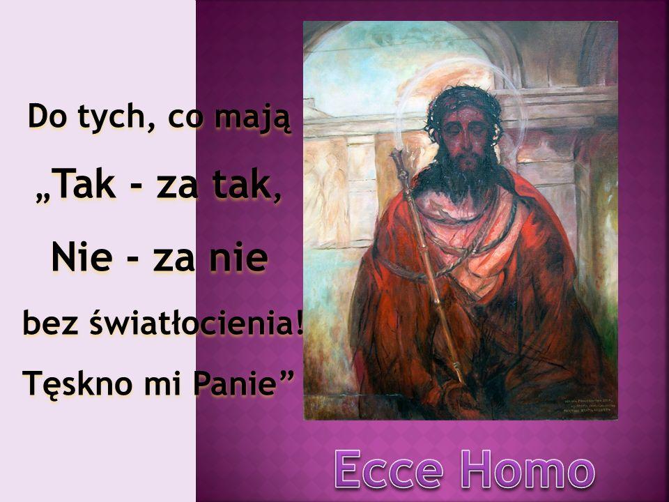 Pan Jezus bierze krzyż na swoje ramiona