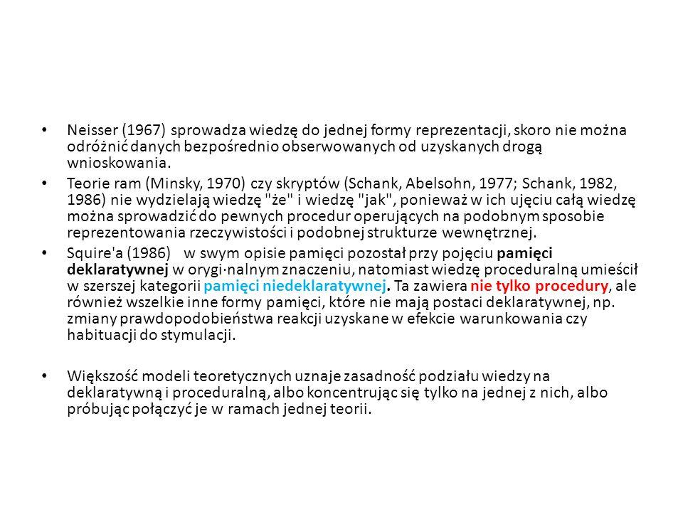 Reprezentacja wiedzy za pomocą cech Eva Clark (1979), Smith i in.