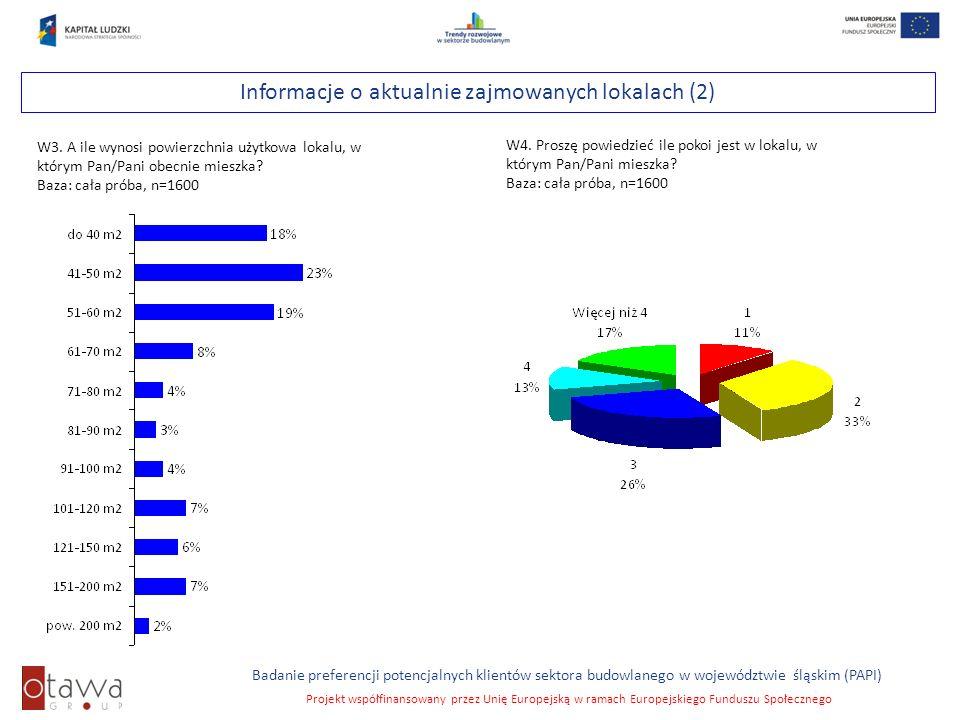 Slajd 14 Badanie preferencji potencjalnych klientów sektora budowlanego w województwie śląskim (PAPI) Projekt współfinansowany przez Unię Europejską w