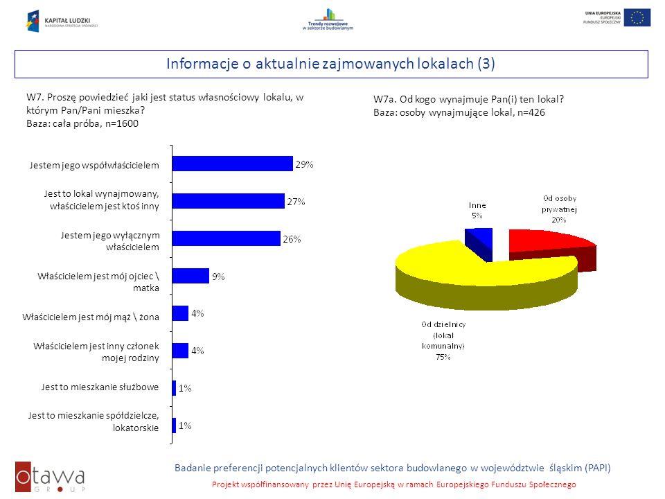 Slajd 16 Badanie preferencji potencjalnych klientów sektora budowlanego w województwie śląskim (PAPI) Projekt współfinansowany przez Unię Europejską w