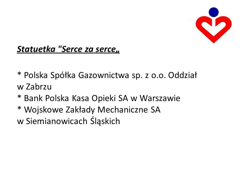 Statuetka Serce za serce * Polska Spółka Gazownictwa sp.