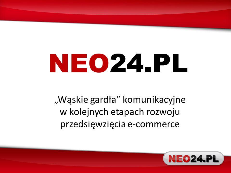 NEO24.PL Wąskie gardła komunikacyjne w kolejnych etapach rozwoju przedsięwzięcia e-commerce