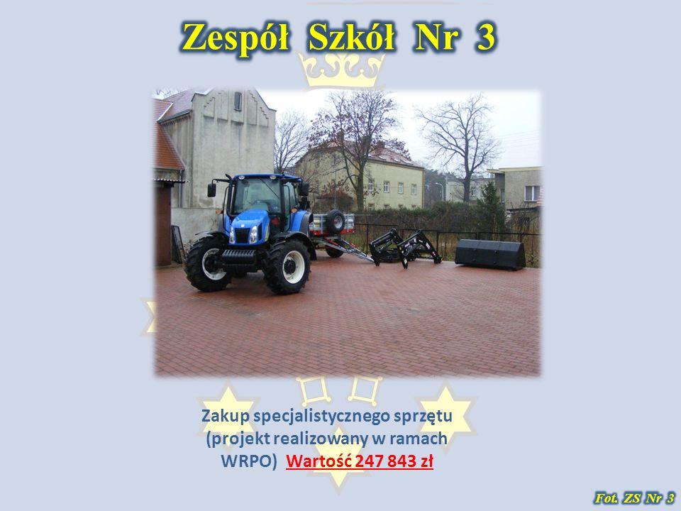 Zakup specjalistycznego sprzętu (projekt realizowany w ramach WRPO) Wartość 247 843 zł