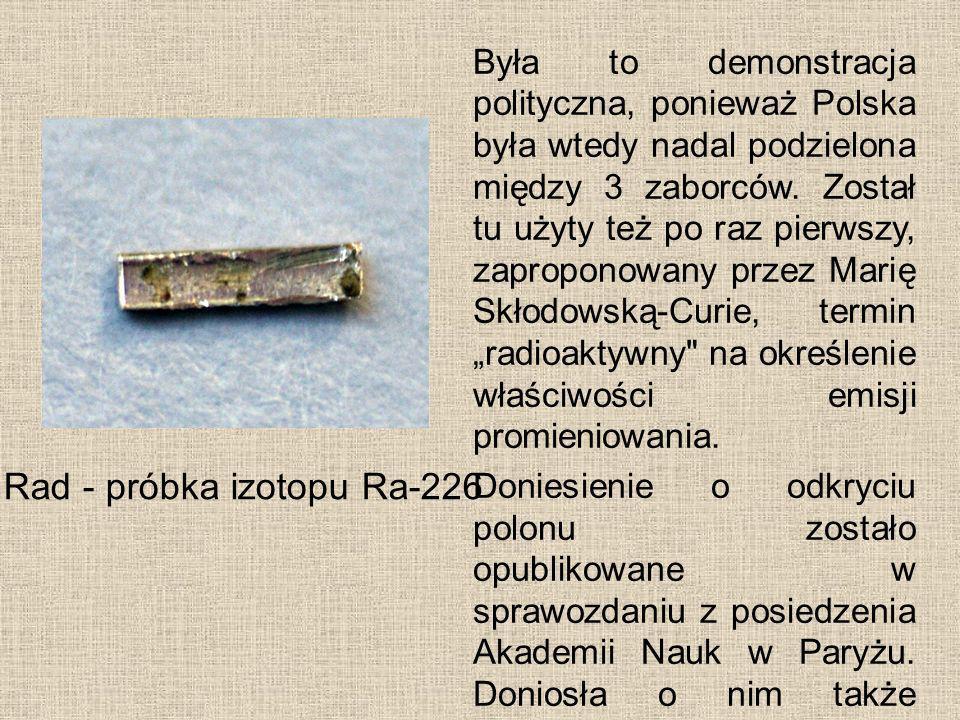 Była to demonstracja polityczna, ponieważ Polska była wtedy nadal podzielona między 3 zaborców. Został tu użyty też po raz pierwszy, zaproponowany prz