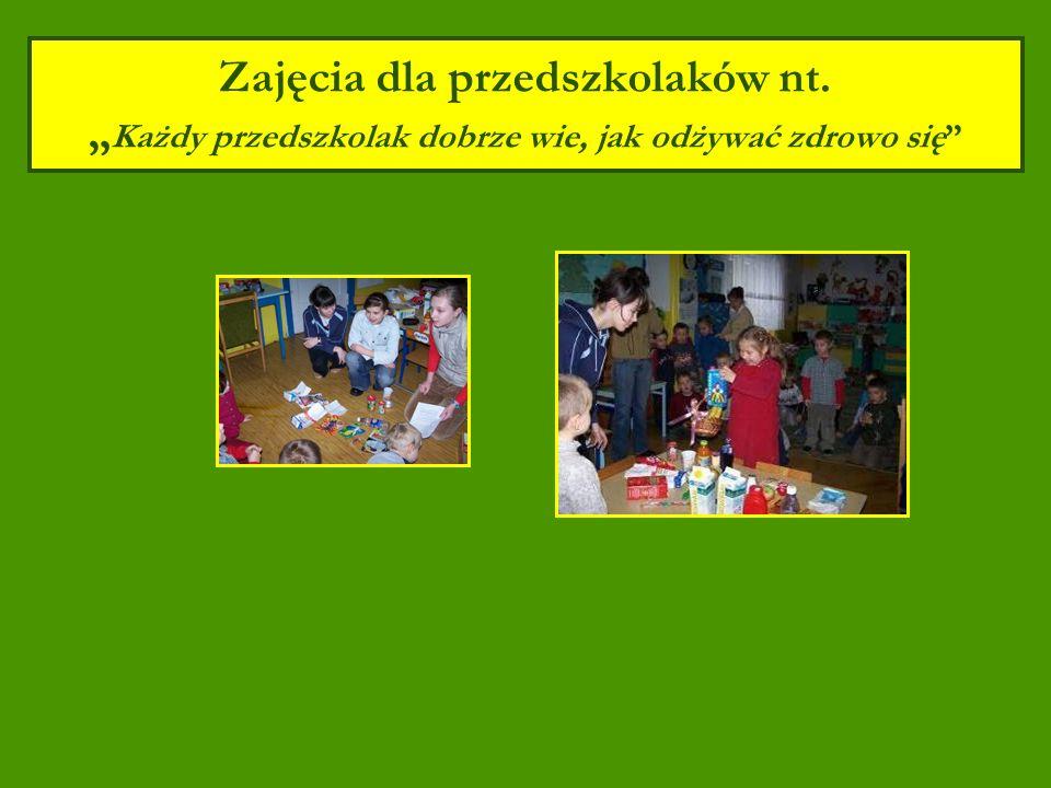 Zajęcia dla przedszkolaków nt. Każdy przedszkolak dobrze wie, jak odżywać zdrowo się