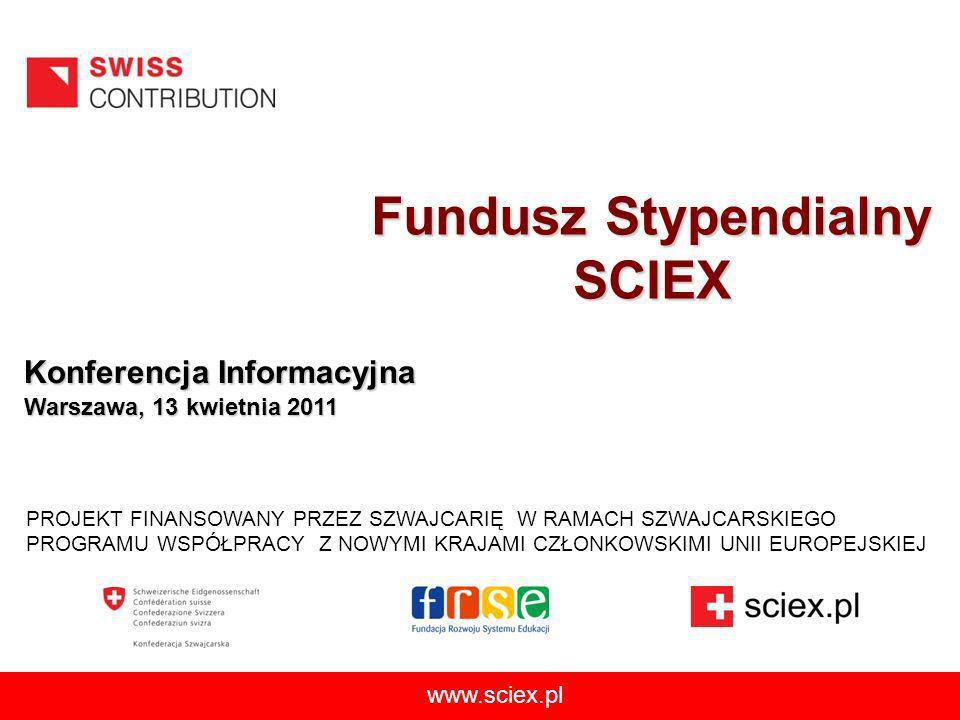 www.sciex.pl 22 Informacje o programie www.swiss.opi.org.pl www.programszwajcarski.gov.pl www.swiss-contribution.admin.ch/poland www.programszwajcarski.opi.org.pl