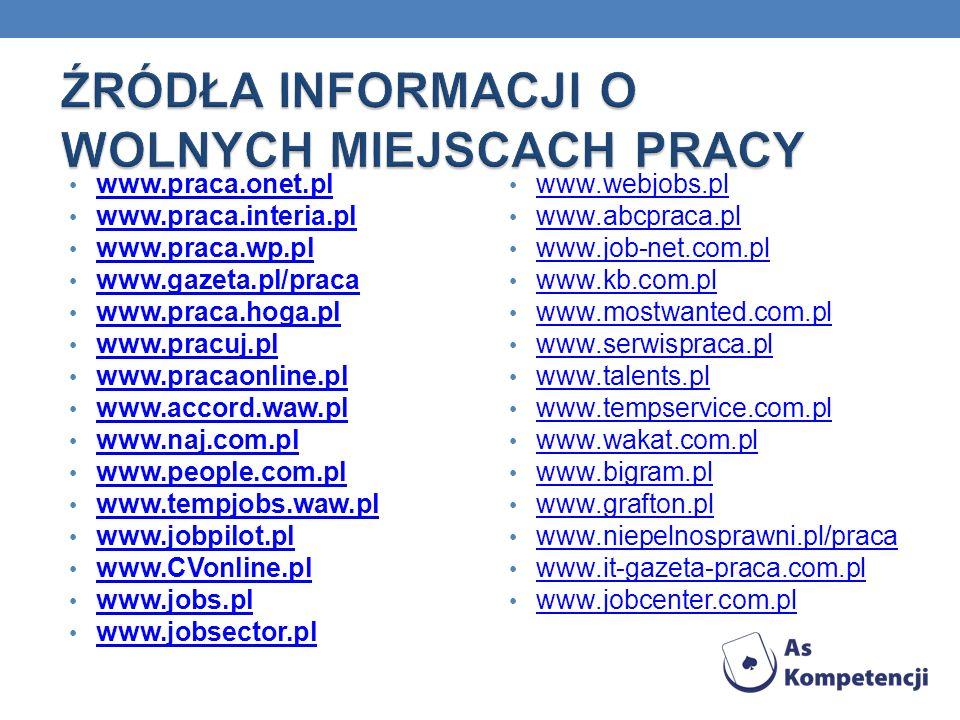 www.praca.onet.pl www.praca.interia.pl www.praca.wp.pl www.gazeta.pl/praca www.praca.hoga.pl www.pracuj.pl www.pracaonline.pl www.accord.waw.pl www.naj.com.pl www.people.com.pl www.tempjobs.waw.pl www.jobpilot.pl www.CVonline.pl www.jobs.pl www.jobsector.pl www.webjobs.pl www.abcpraca.pl www.job-net.com.pl www.kb.com.pl www.mostwanted.com.pl www.serwispraca.pl www.talents.pl www.tempservice.com.pl www.wakat.com.pl www.bigram.pl www.grafton.pl www.niepelnosprawni.pl/praca www.it-gazeta-praca.com.pl www.jobcenter.com.pl