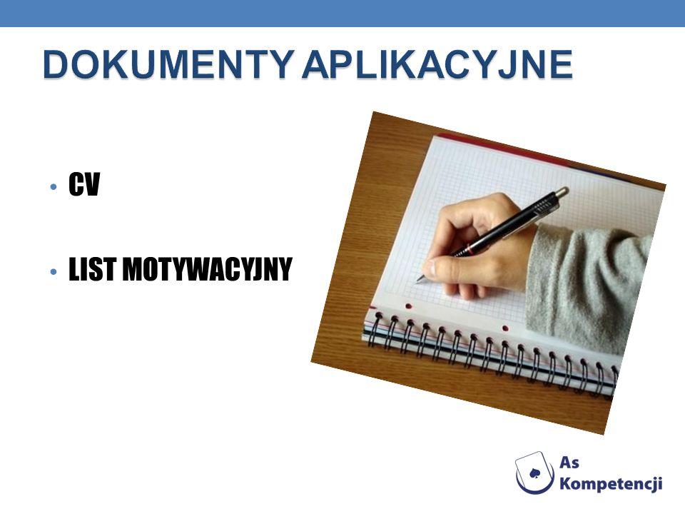 CV LIST MOTYWACYJNY