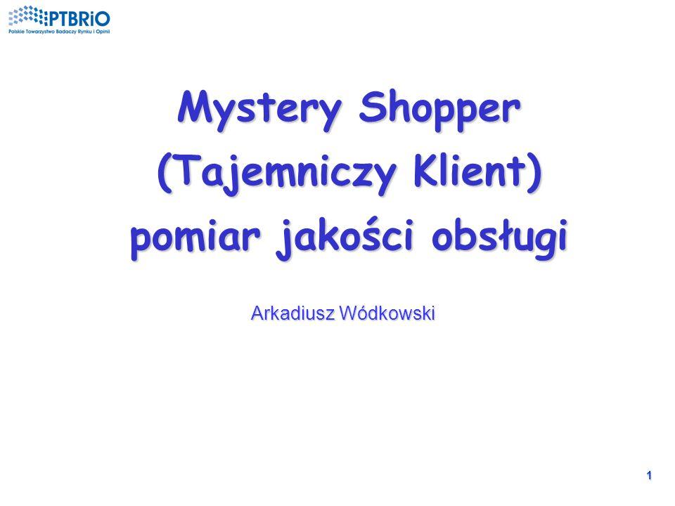 1 Mystery Shopper (Tajemniczy Klient) pomiar jakości obsługi Arkadiusz Wódkowski