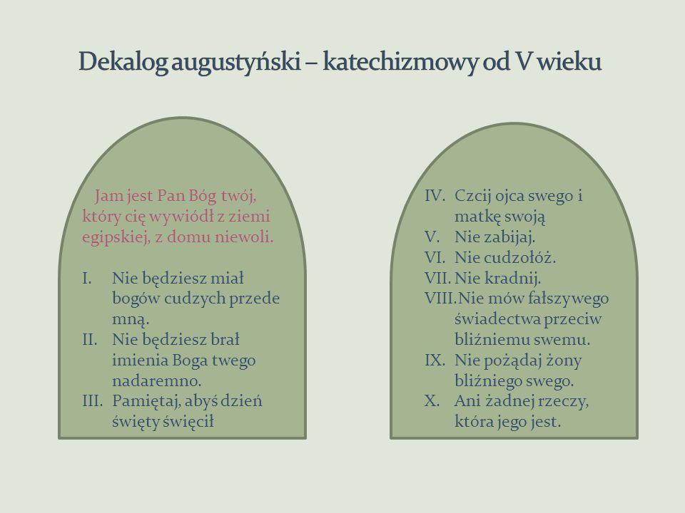 Dekalog biblijny z góry Synaj starożytny, filoński do IV w.