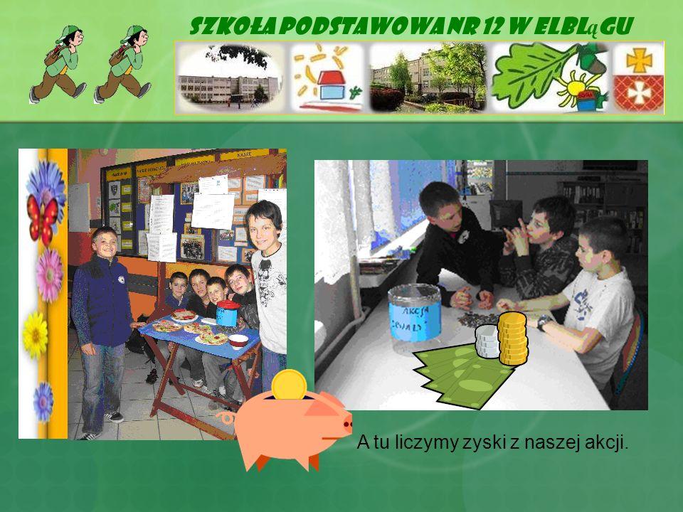 Szkoła Podstawowa Nr 12 w Elbl ą gu A tu liczymy zyski z naszej akcji.