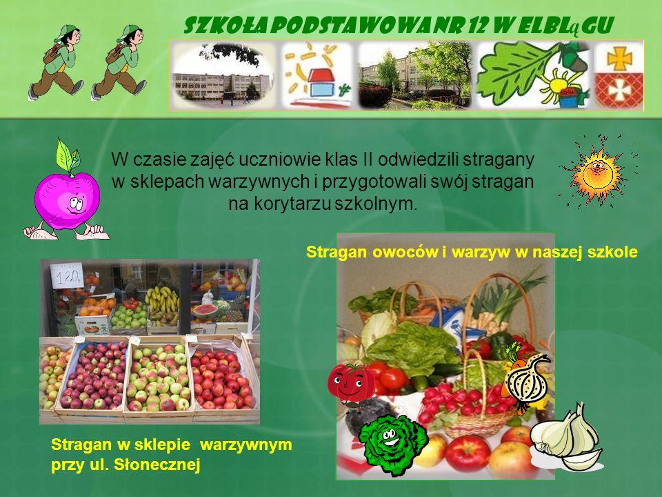 Szkoła Podstawowa Nr 12 w Elbl ą gu W czasie zajęć uczniowie klas II odwiedzili stragany w sklepach warzywnych i przygotowali swój stragan na korytarz