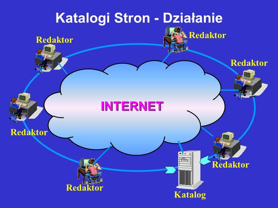 INTERNET Narzędzia Wyszukiwania Informacji W Internecie wyszukiwarki tekstowe (szperacze) katalogi stron webring wyszukiwarki i katalogi specjalistycz