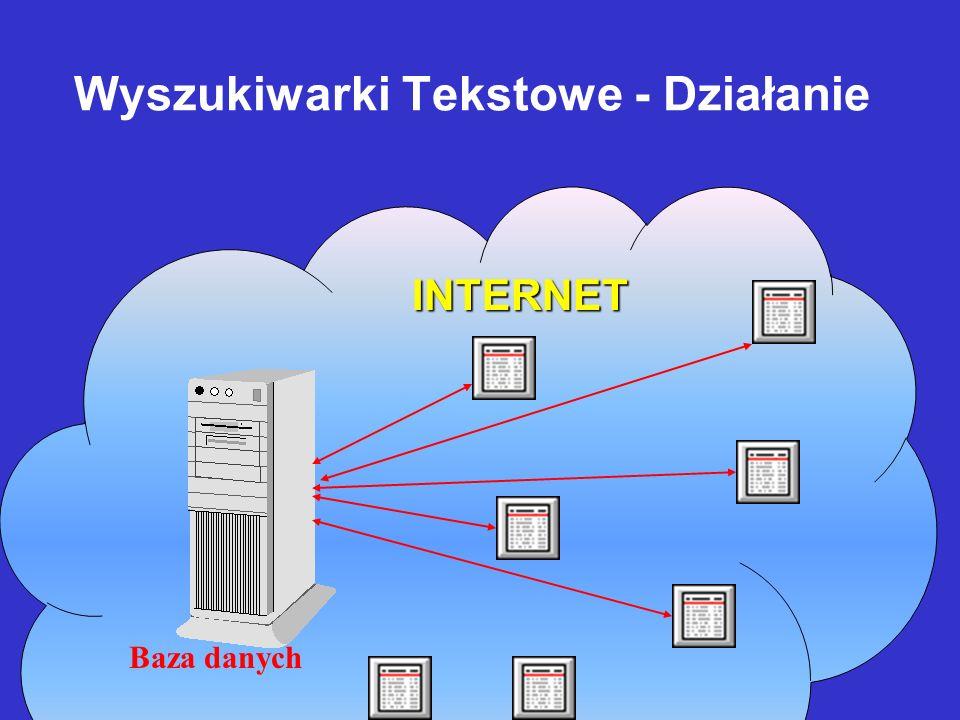 Wyszukiwarki Tekstowe - Budowa Program analizy tekstów Program obsługi bazy danych