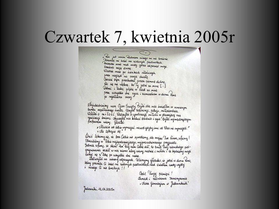 Czwartek 7, kwietnia 2005r