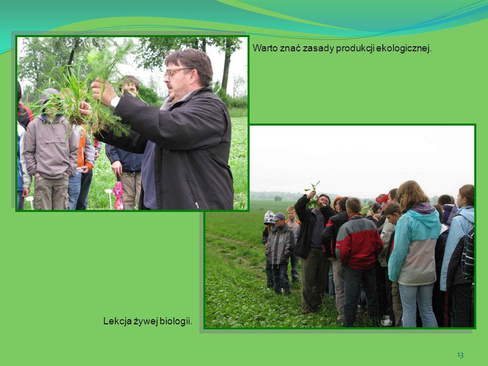 13 Warto znać zasady produkcji ekologicznej. Lekcja żywej biologii.
