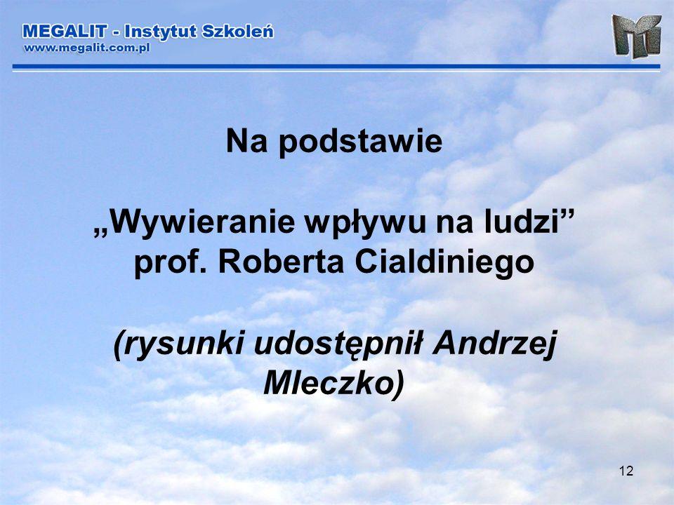 12 Na podstawie Wywieranie wpływu na ludzi prof. Roberta Cialdiniego (rysunki udostępnił Andrzej Mleczko)