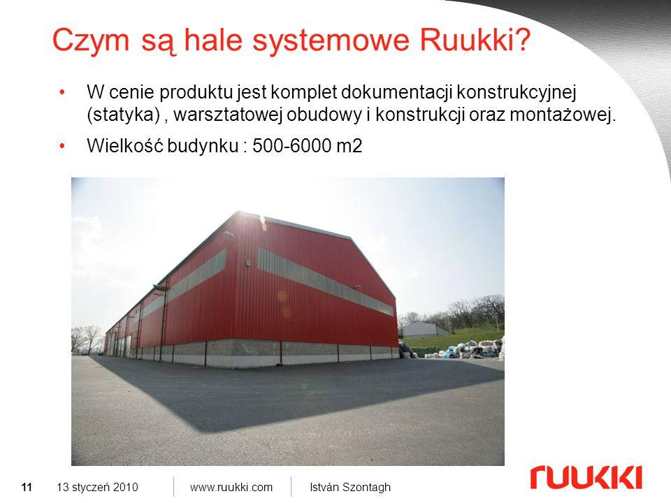 11 www.ruukki.com István Szontagh 13 styczeń 2010 Czym są hale systemowe Ruukki.