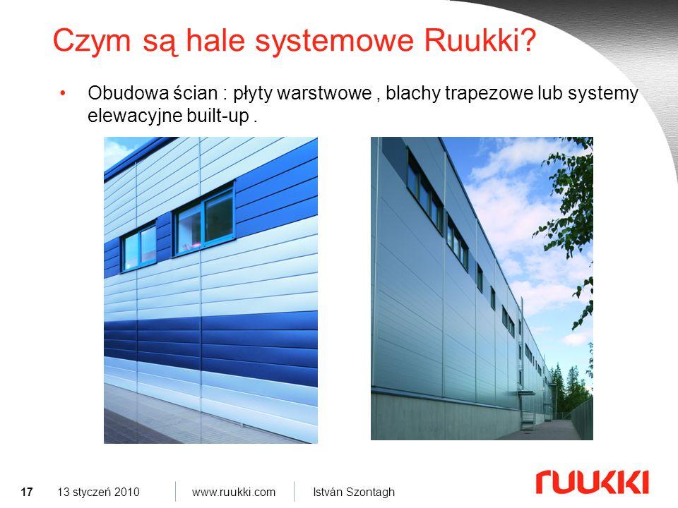17 www.ruukki.com István Szontagh 13 styczeń 2010 Czym są hale systemowe Ruukki.