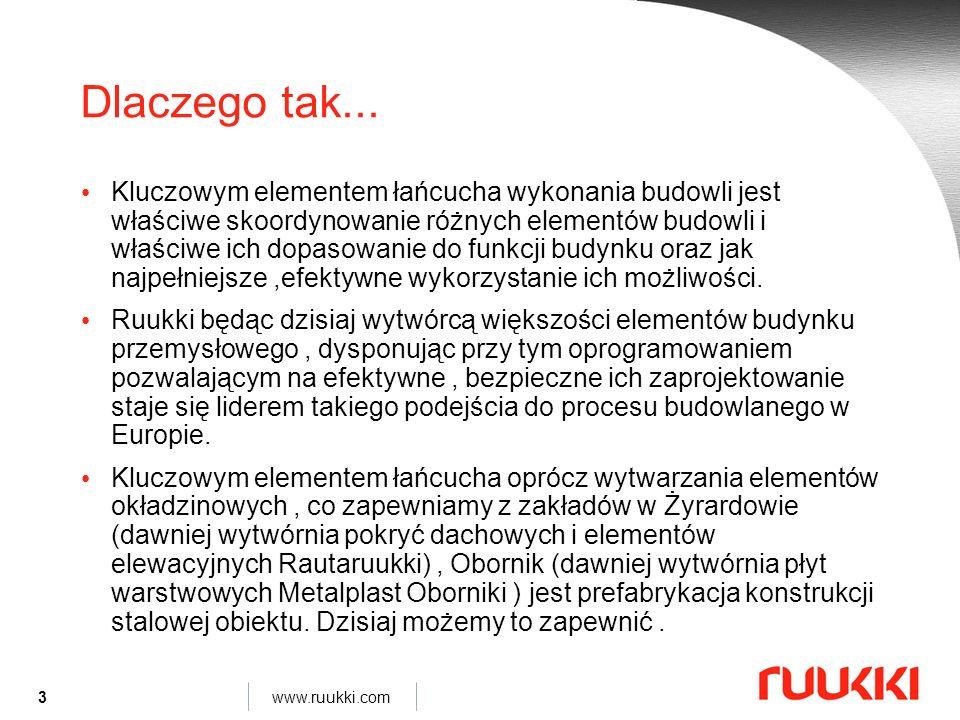 14 www.ruukki.com István Szontagh 13 styczeń 2010 Czym są hale systemowe Ruukki.