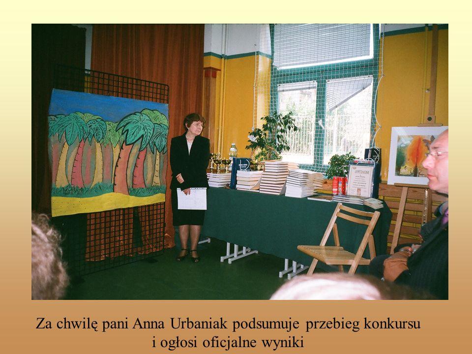 Za chwilę pani Anna Urbaniak podsumuje przebieg konkursu i ogłosi oficjalne wyniki