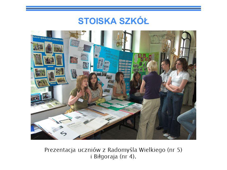 STOISKA SZKÓŁ Prezentacja uczniów z Radomyśla Wielkiego (nr 5) i Biłgoraja (nr 4).