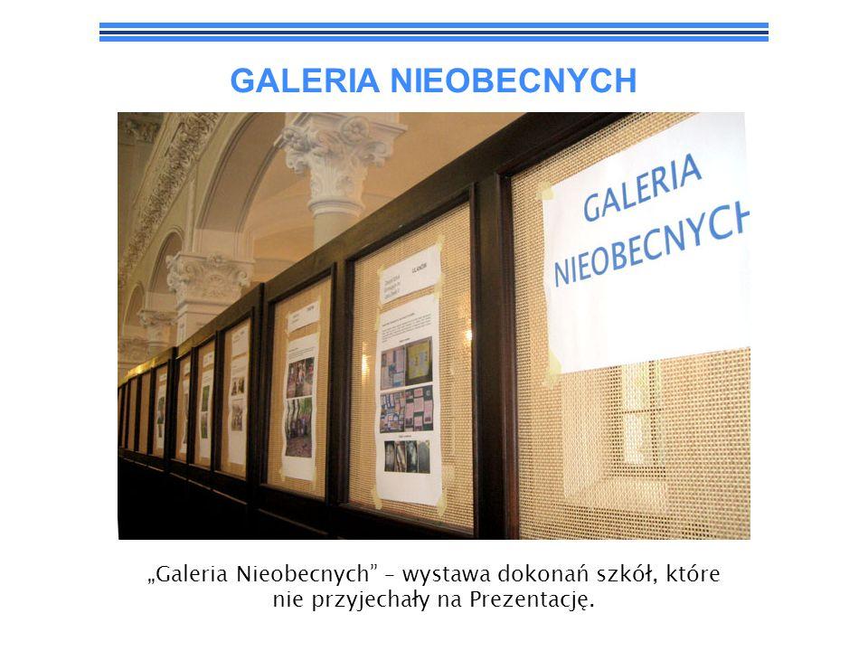 GALERIA NIEOBECNYCH Galeria Nieobecnych – wystawa dokonań szkół, które nie przyjechały na Prezentację.