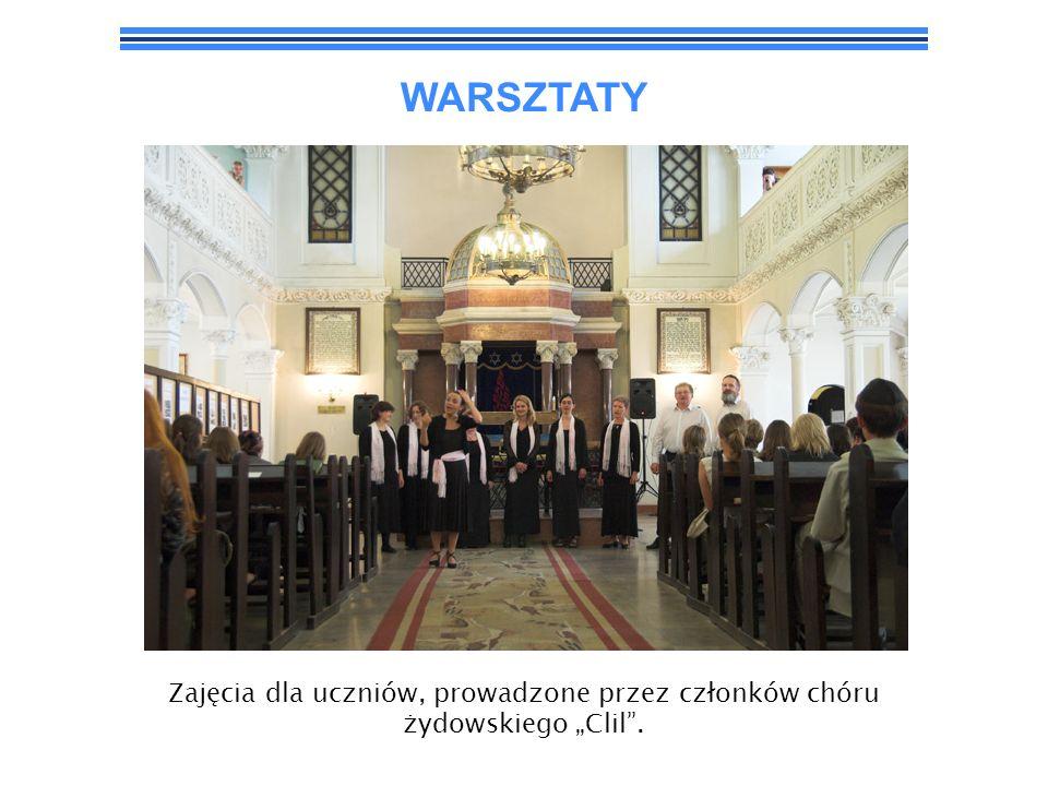WARSZTATY Zajęcia dla uczniów, prowadzone przez członków chóru żydowskiego Clil.