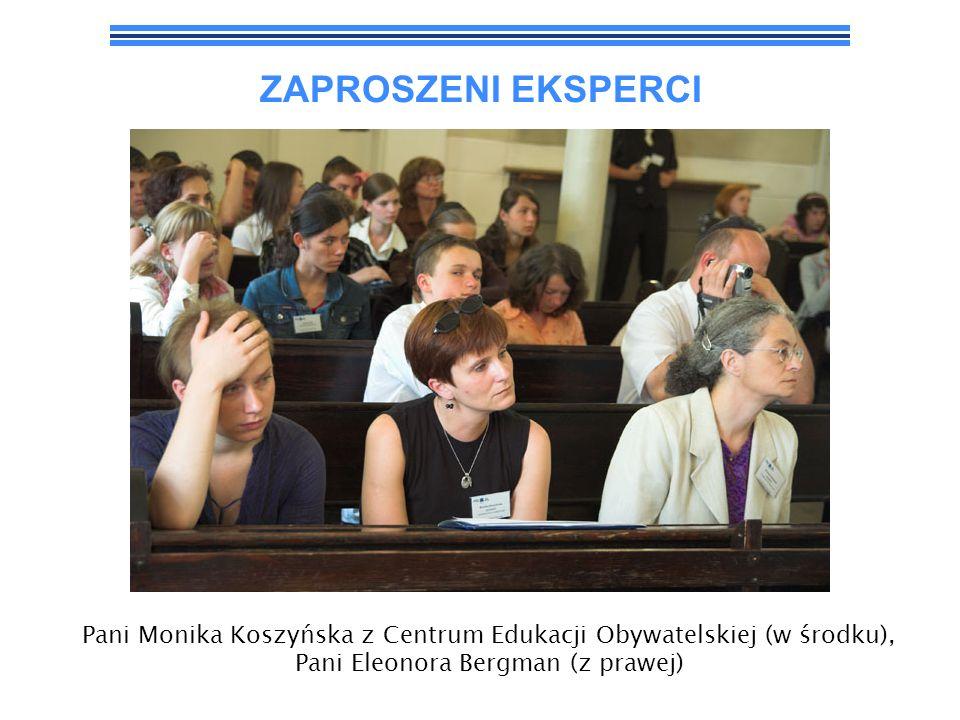ZAPROSZENI EKSPERCI Pan Jacek Strzemieczny z Centrum Edukacji Obywatelskiej.