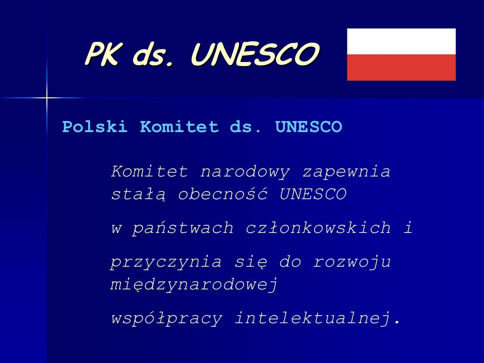 Skład Polskiego Komitetu ds.UNESCO Przewodniczący Prof.