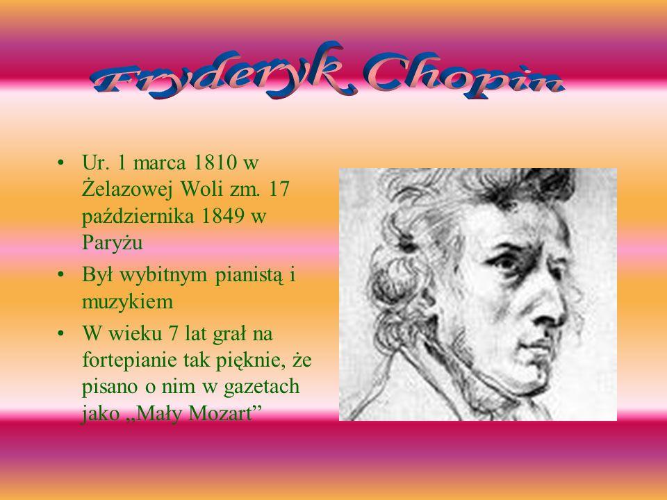 Ur.1 marca 1810 w Żelazowej Woli zm.