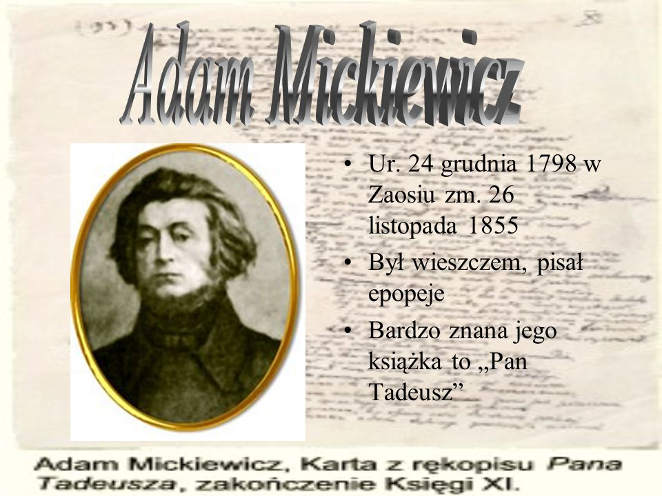 Ur.24 grudnia 1798 w Zaosiu zm.