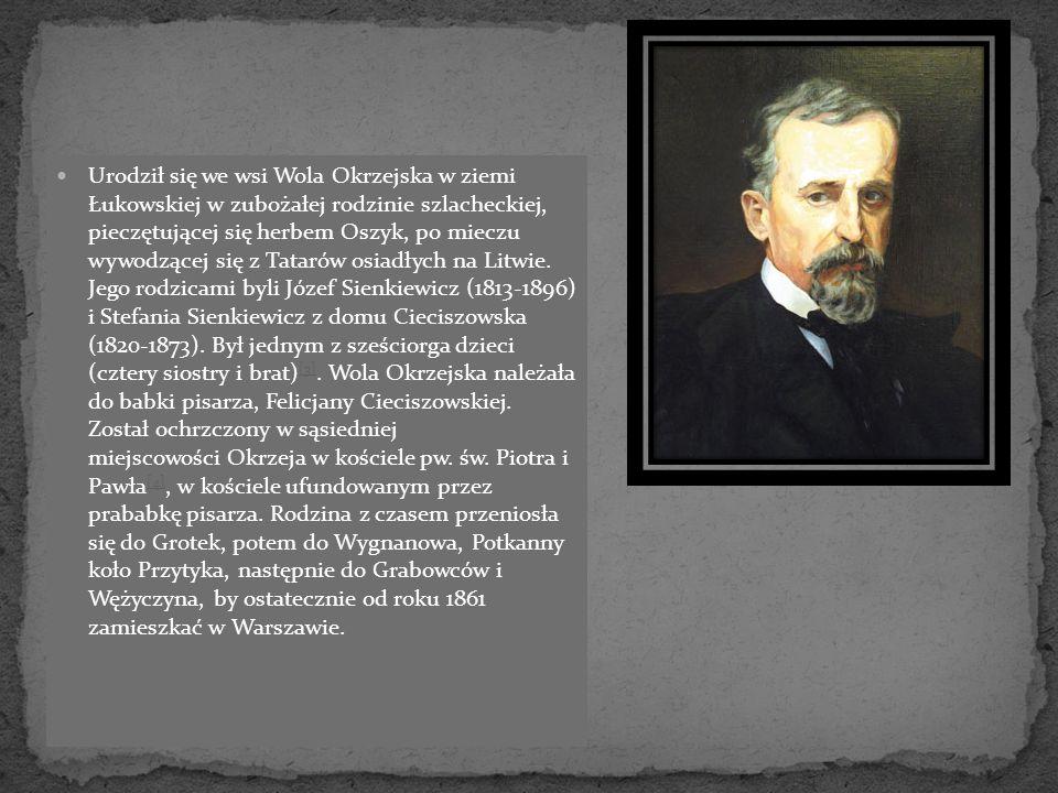 Urodził się we wsi Wola Okrzejska w ziemi Łukowskiej w zubożałej rodzinie szlacheckiej, pieczętującej się herbem Oszyk, po mieczu wywodzącej się z Tat