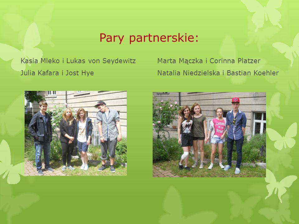 Pary partnerskie: Matylda Olszewska i Sandor Hosszu Ola Rodzinka i Adrian Abold Gabriela Tupta i Moritz von Heckel Ola Nguyen i Kai Stange