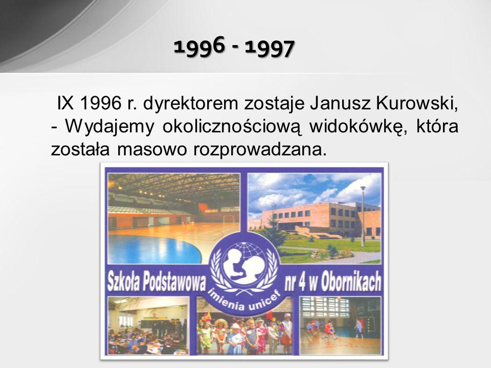 1996 - 1997 IX 1996 r.