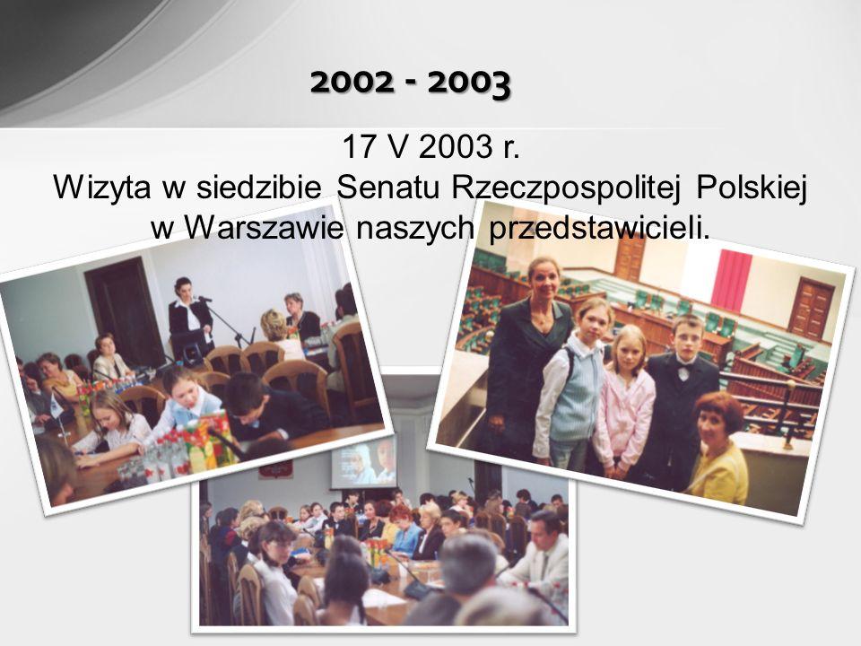 2003 - 2004 1 IX 2003 r.powstał Zespół Szkół w skład, którego weszła Szkoła Podstawowa nr 4 im.