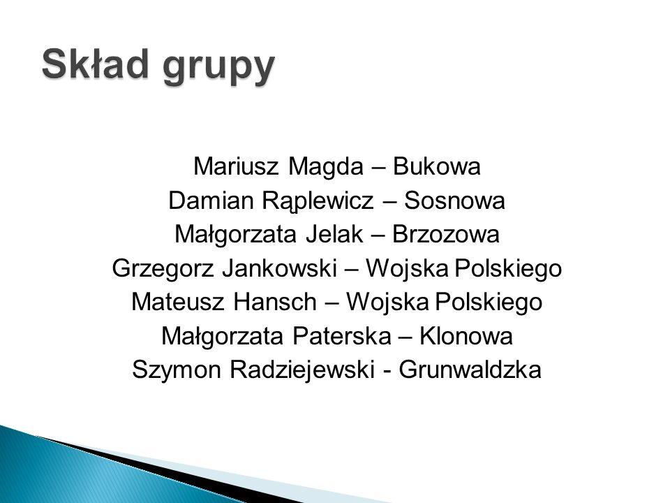 Mariusz Magda – Bukowa Damian Rąplewicz – Sosnowa Małgorzata Jelak – Brzozowa Grzegorz Jankowski – Wojska Polskiego Mateusz Hansch – Wojska Polskiego