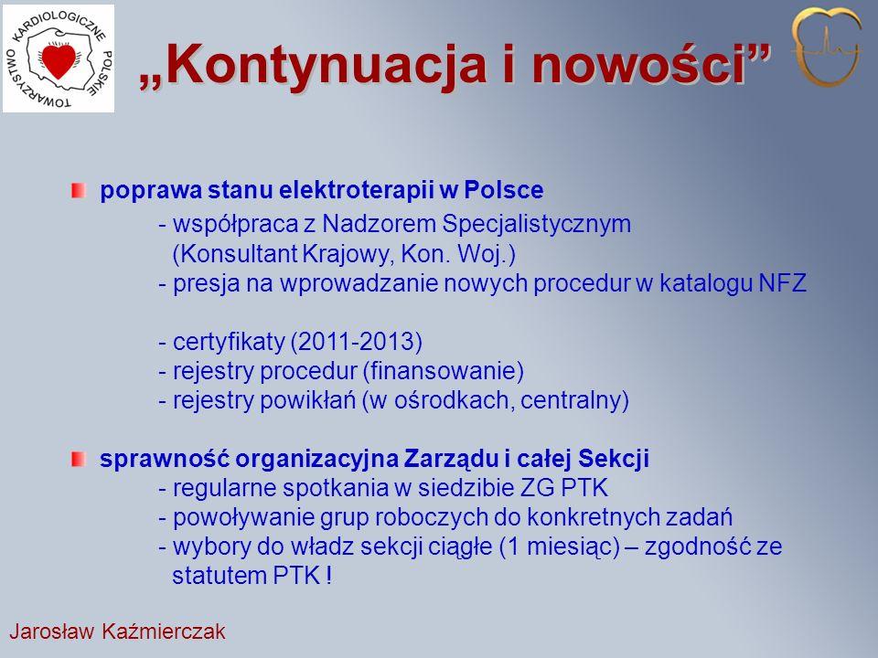 Kontynuacja i nowości poprawa stanu elektroterapii w Polsce - współpraca z Nadzorem Specjalistycznym (Konsultant Krajowy, Kon.