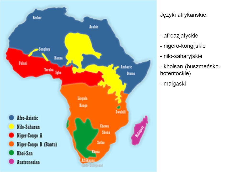 Urzędowe języki Afryki.